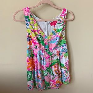 Lilly Pulitzer for Target floral tank #406